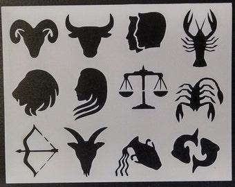 Horoscope Astrological Sign Zodiac Scorpio Virgo Gemini Libra Pisces + Custom Stencil FAST FREE SHIPPING