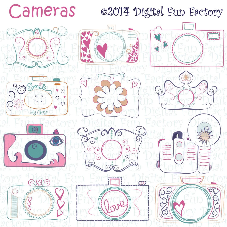 Pink Vintage Camera Clip Art Png