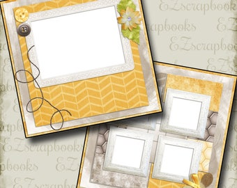 HONEY in the SUN - 2 Premade Scrapbook Pages - EZ Layout 253