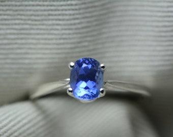 Unheated Sapphire Ring, GIA Certified, 1.05 Carats, Sri Lanka Origin, Brilliant Cut, Blue Color, Natural Genuine Ceylon September Birthstone
