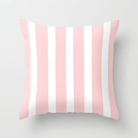 OUTDOOR Throw Pillow . Blush Pink Outdoor Pillow . Pink Stripe patio cushion . Modern Pillow . 16 18 20 inch . Rose Pink Outside Lumbar