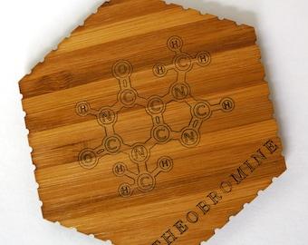 Theobromine (Chocolate) Molecule Chemistry Coasters - Set of 4