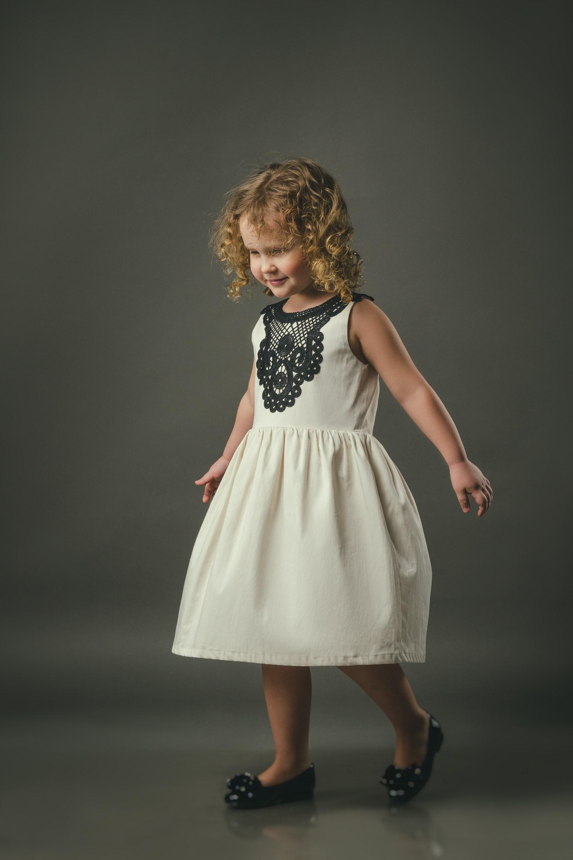 Ivory Boho Girl Dress Boho Chic Dress Baby Clothes Flower