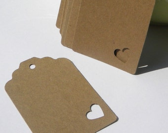 150 Paper Tags - brown paper tags -  use for gift tags - wedding tags - favor tags - hang tags - shabby tags
