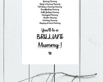 New Mum Card - You'll be a brilliant Mummy card - New Baby