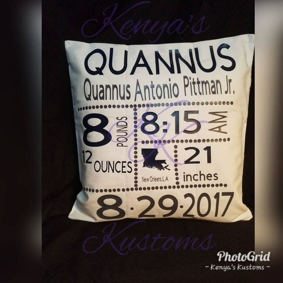 Birth Certificate Pillow