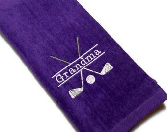 golf towel, personalize, golf gift for her, ladies golf, grandma, mom nana gift, other name, embroidered towel, color choice, mothers day,