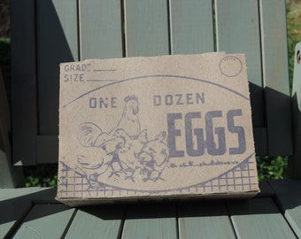 Vintage Cardboard Egg Carton - 1920's