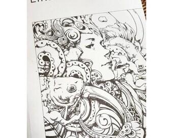 LAST Stock! EIRENE(Signed) Coloring Book by Nicholas F. Chandrawienata Nicholas Filbert