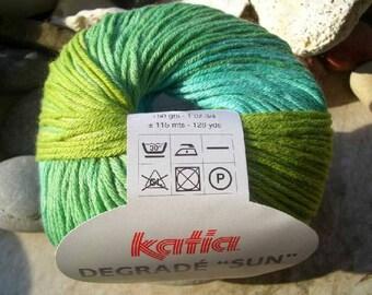 Remnants-Katia-Spain fibres-degrade sun-gradient yarn 100% cotton-50 ball-in 3 beautiful colors