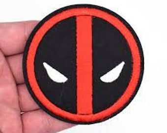 Deadpool Logo Jacket Patch iron on sew on Embroidery badge / patch
