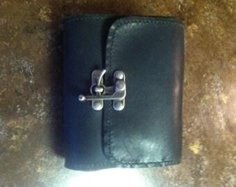 Black Leather Sporran/Belt Pouch