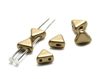 The beads by Puca®: DIY - Khéops® 6mm - 10g - Light Gold matte