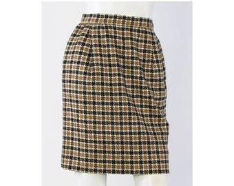 Vintage VALENTINO BOUTIQUE Multi-color Plaids & Checks Mini Pencil Skirt Size 4
