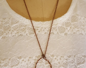 Chunky Quartz Copper Wire Necklace | Gifts for her | Valentines Day