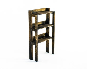 Weathered Plant Stand with Three Shelves