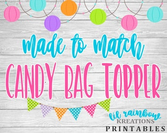 Made To Match Candy Bag Toppers For Any Theme