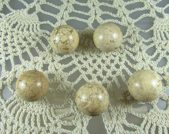 19mm. Desert jasper beads