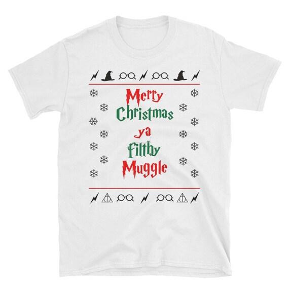 merry christmas ya filthy muggle shirt harry potter funny