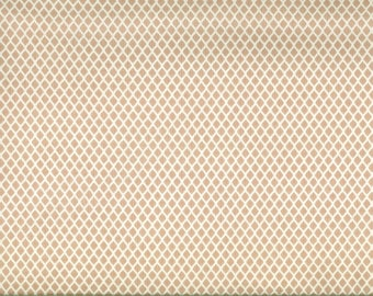Gütermann beige honeycomb fabric