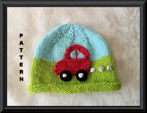Knitted Hat Pattern Baby Hat Pattern Infant Hat Pattern Newborn Hat