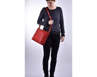 """Shoulder bag """"Jessa"""" Fraise leather bag"""