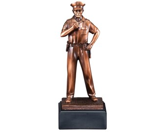 Police Officer Resin Sculpture (BLRFB058)