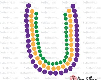 Mardi Gras Beads SVG Digital Cut File
