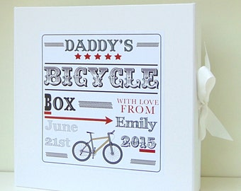 Daddy's Bike Box   Father's day Gift   Keepsake Box   Dad's memory Box   Cycle lovers gift