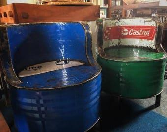 Reclaimed Oil Drum Metal Chair