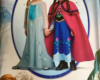 Disney Frozen sewing pattern Simplicity sizes 3 to 8
