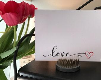 Love You Romantic Card