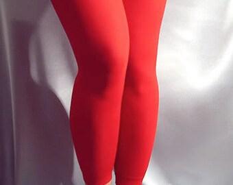 Thin spandex leggings Red