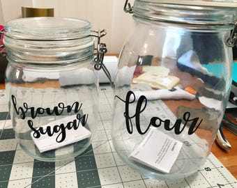jars with labels