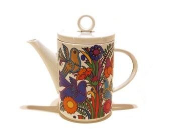 Villeroy & Boch, Acapulco pattern coffee / tea pot. Retro homeware