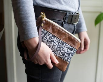 Leather bag, clutch purse, clutch bag, clutch wallet, wristlet wallet, wristlet purse, leather wristlet, boho bag, boho clothing