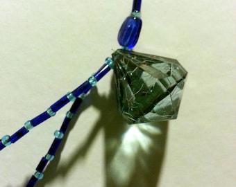 Blue Crystal Chandelier Necklace