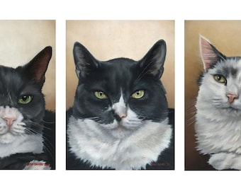 Custom Pet Portrait - Series of three 11x14