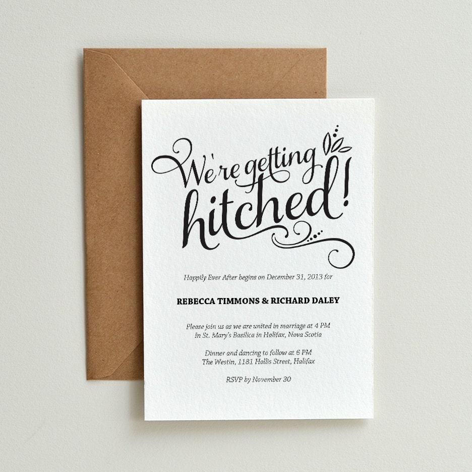Casual Calligraphy / DIY Printable Wedding Invitation Template