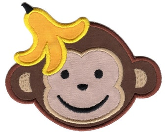 Boy Monkey Iron-On Patch Applique  - Kids / Baby