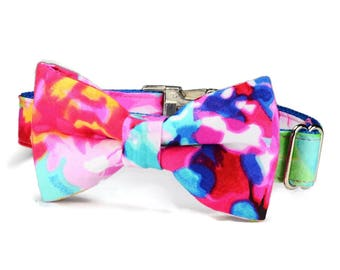 The Monet Bow Tie Dog Collar