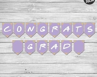 Friends TV Congrats, Grad! Banner / Friends TV Decor / Graduation Party Decor / Friends TV Show Themed Party / Printable / Instant Download