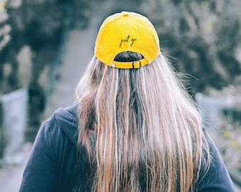 Just Go Hat // Low Profile Hat // Distressed Hats