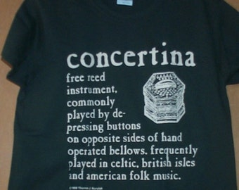 Concertina Definition T-Shirt Women's Sizes
