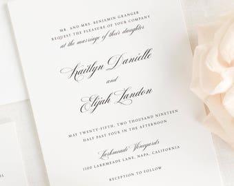 Kaitlyn Wedding Invitation - Deposit