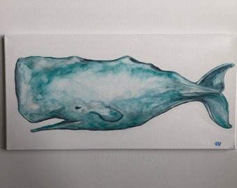 Brushed Aqua Sperm Whale