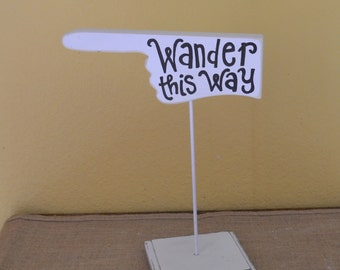 Directional Hand Table Sign