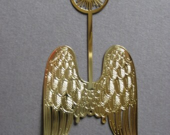 Three Brass Angel Wings with Halo