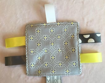 Gray Yellow Baby Crinkle Toy