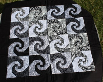 Patchwork Lap Quilt - Hand Pieced and Hand Quilted